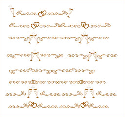 The original gold seamless decorative patterns