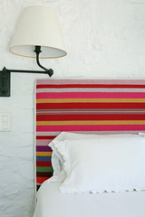 Bed and lamp detail