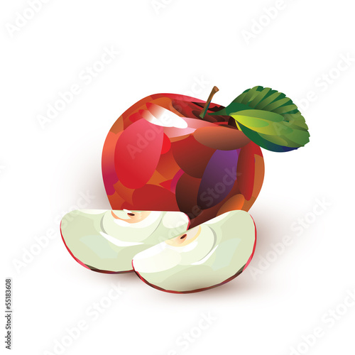 Red apple. Vector format