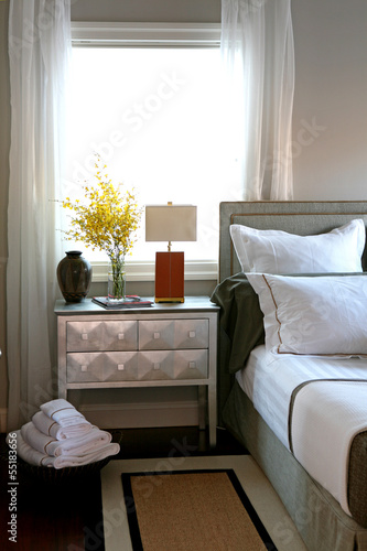 Modern interior bedroom detail