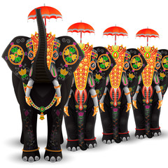 Decorated Elephant of South India