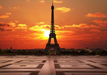 la tour Eiffel dal Trocadero all'alba