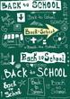 Back to school, doodle word school background