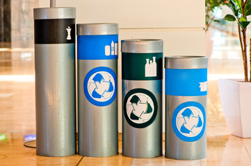 four tanks for waste sorting