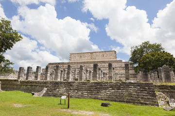 Temple of the Warriors near Chichen-Itza. A Mayan ruin, in the Y