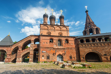 Assumption Cathedral on the historic street in central Moscow