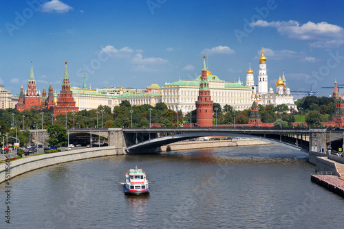 View of Moscow Kremlin and Moskva River