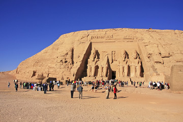 The Great temple of Abu Simbel, Nubia