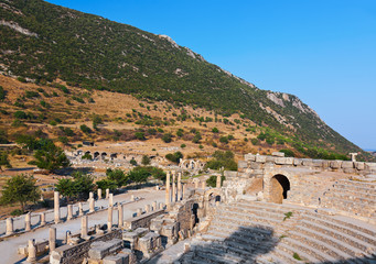 Ancient amphitheater in Ephesus Turkey