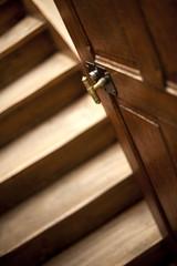 Escaliers, intérieur, maison, bois, architecture, immobilier