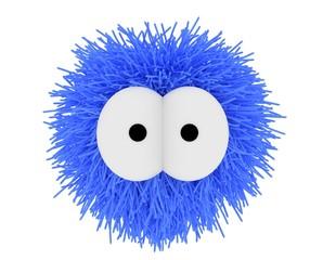 Ein kuscheliger Fellball in Blau