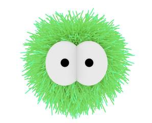 Ein kuscheliger Fellball in Grün