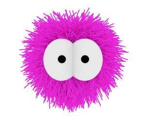 Ein kuscheliger Fellball in Pink