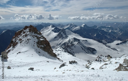 Mountain Landscape at Aconcagua summit