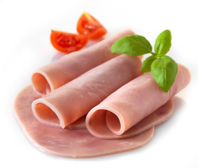 sliced pork ham