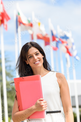 International scholarship female student