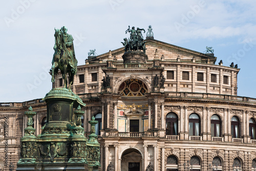 Semperoper and King John of Saxony statue