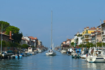 Fisher Harbour of Grado, Italy at Adriatic Sea