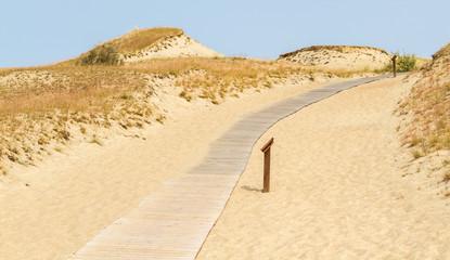 Road to Dune Nagliu, Curonian Spit, Lithuania