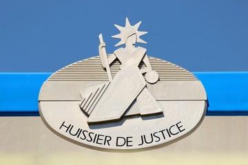 Panonceau officiel de la profession d'Huissier de Justice