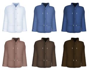 Plain long sleeve jacket template