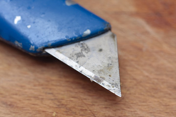 Used and dirty utility knife
