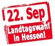22. September Landtagswahl in Hessen