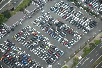 Parking place in Yokohama, Japan