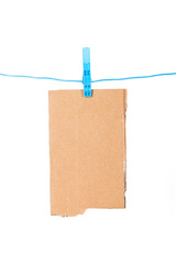 Clothespin with Ripped Cardboard