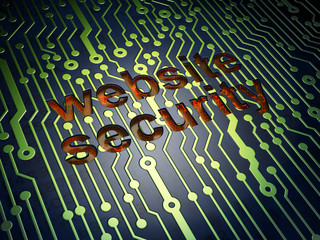 Privacy concept: Website Security on circuit board background