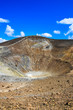 Vertical view of volcano crater on Vulcano island, Sicily