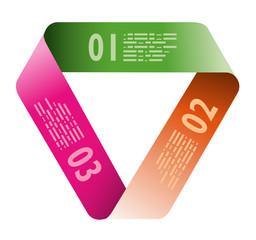 Infografica esempi fogli numerati nastro fasce biglietti