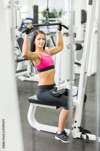 Girl in health club