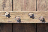 wooden door with studs