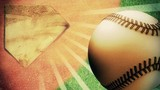 Baseball looping background with light rays