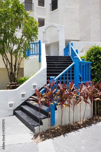 outdoor black stair