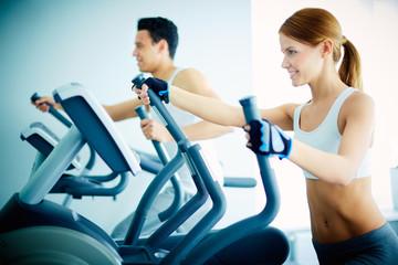 Training in health club