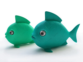 Funny Plastic Fish Toys in 3D