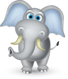 elephant cartoon posing