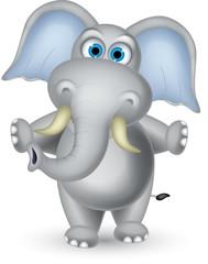 elephant cartoon standing