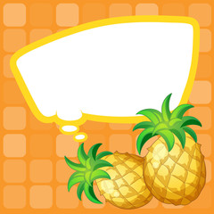 A paper note with pineapples having an empty callout
