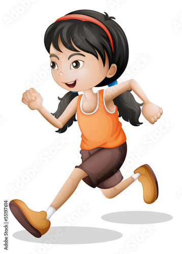 A teenager jogging