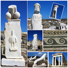 Delos,Greece collage