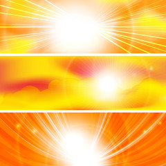 abstract sun ray banners