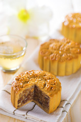 Mooncakes with tea