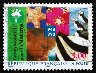 Postage stamp France 1998 Conservation of Nature