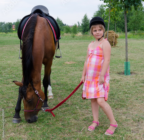 Horse and cute jockey