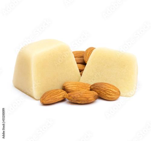 Fotobehang Snoepjes Marzipan with Almonds
