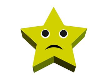 sarı renkli somurtan yıldız