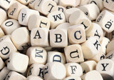 "Wood letter blocks with focus on ""ABC"""